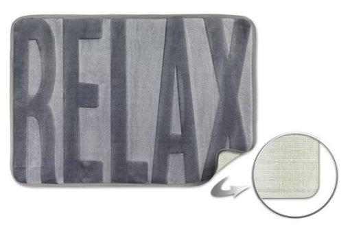 Embossed Memory Foam Bathmat in Silver
