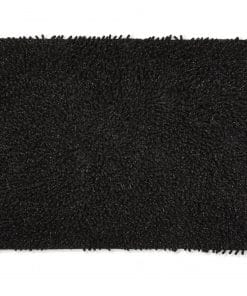 Sparkle Chenille Bathmat in Black