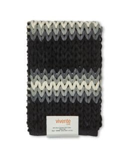 Luxurious Striped Bathmat in Black