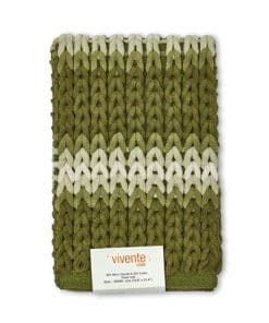 Luxurious Striped Bathmat in Green
