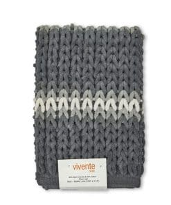 Luxurious Striped Bathmat in Silver