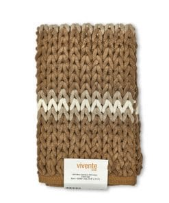 Luxurious Striped Bathmat in Taupe