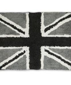 Union Jack Bathmat in Black