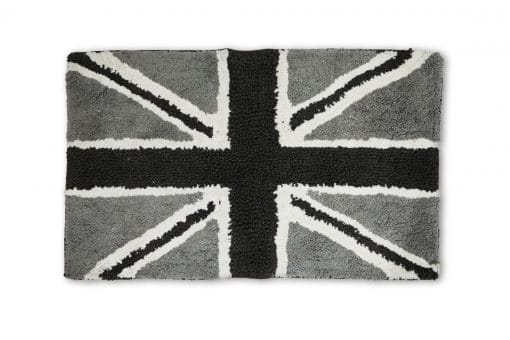 Union Jack Bathmat in Black