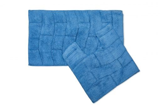 Pure Cotton Jacquard 2pc Bathset in Cobalt