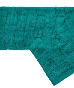 Pure Cotton Jacquard 2pc Bathset in Teal