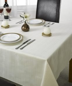 Check Jacquard Tablecloth Cream