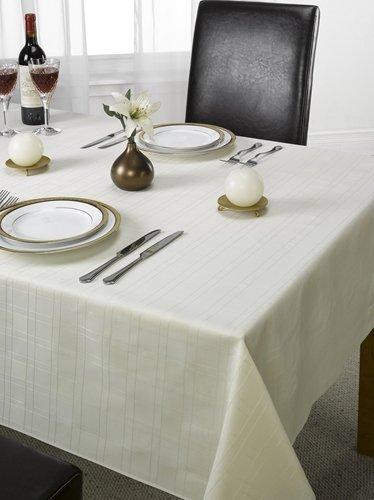 Check Jacquard Tablecloth Cream