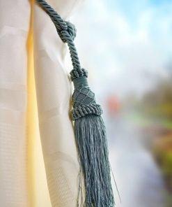 Knitted Ball Tieback Green