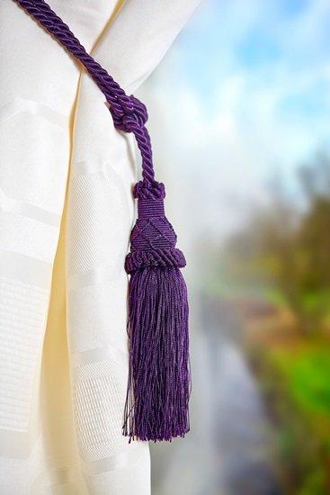 Knitted Ball Tieback Plum