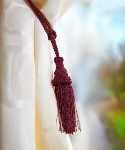 Knitted Ball Tieback Wine