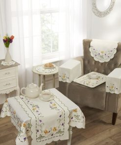 Floral Embroidered Linens