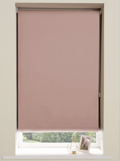 Blackout Roller Blind in Pink