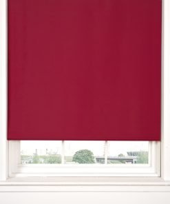 Blackout Roller Blinds in Red