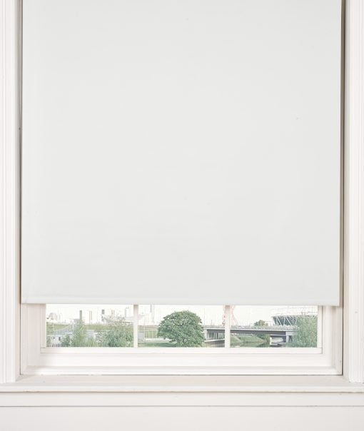 Black out roller blind white