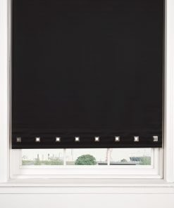 Square Eyelet Roller Blinds in Black