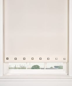 Square Eyelet Roller Blind in Cream