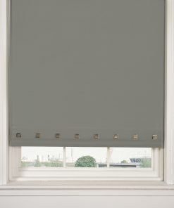 Square Eyelet Roller Blinds in Grey