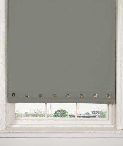 Square Eyelet Roller Blinds in Grey