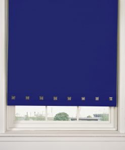Square Eyelet Roller Blinds in Royal Blue