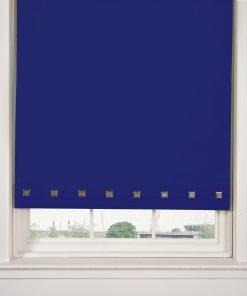 Square Eyelet Roller Blinds in Royal Blue