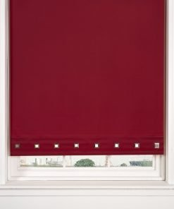 Square Eyelet Roller Blinds in Red