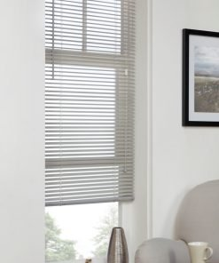 Plain Venetian Blinds in Grey