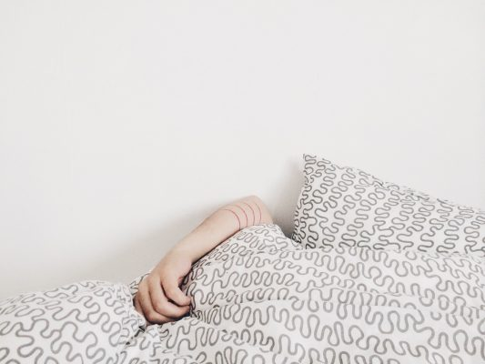 Person in Bedding