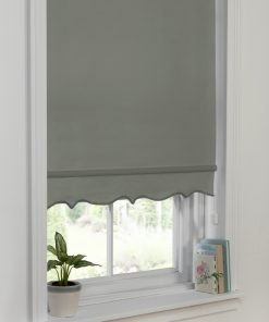 Scalloped Edge Blind Grey