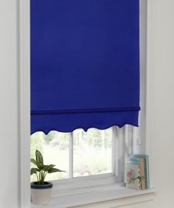 Scalloped Edge Blind Royal Blue