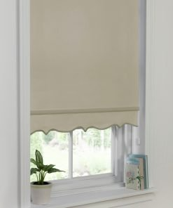 Scalloped Edge Blind Taupe