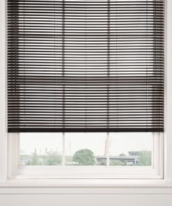 Woodgrain Venetian Blinds in Black