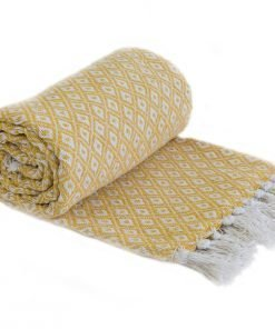 Stockholm Cotton Throw Ochra