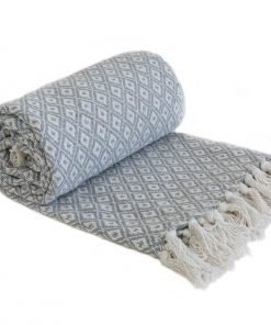 Stockholm Cotton Throw Silver