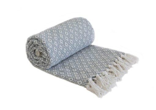 Stockholm Cotton Throw Silver