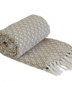 Stockholm Cotton Throw Taupe