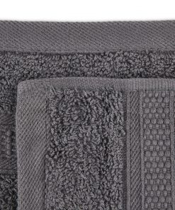 Premier Collection - 500g Everyday Towel Range in Graphite Grey Swatch