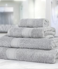 Premier Collection - 500g Everyday Towel Range in Light Silver Grey
