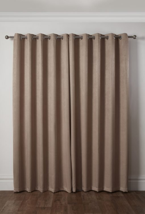 Metro Collection - Thermal Blackout Eyelet Curtains in Taupe