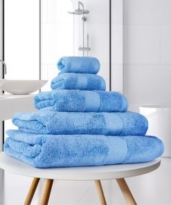 Ultima Collection - 640g Soft and Full Towel Range in Corn Flower Blue
