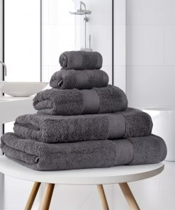Ultima Collection - 640g Soft and Full Towel Range in Graphite Dark Grey