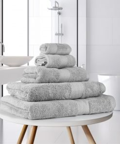 Ultima Collection - 640g Soft and Full Towel Range in Silver Light Grey