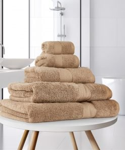 Ultima Collection - 640g Soft and Full Towel Range in Walnut Light Brown
