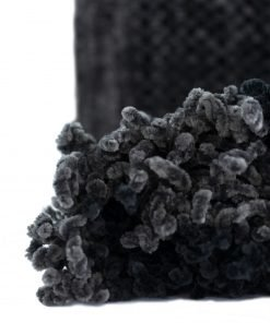 Highland Heavy Weight Chenille Throw in Black