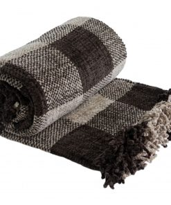 Highland Heavy Weight Chenille Throw in Taupe