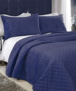 Banbury Bed Spread Set in Navy