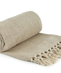Hartley Recycled Cotton Throw in Natural