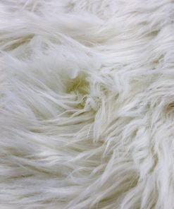 Faux Fur Room Rug in Cream