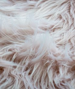 Faux Fur Room Rug in Heather
