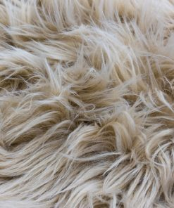 Faux Fur Room Rug in Latte Light Brown